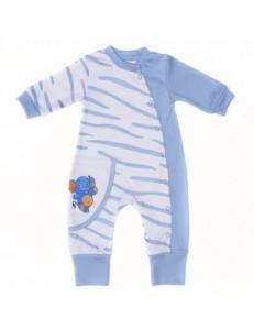 """Комбинезон с манжетами голубого цвета для малышей """"Сафари"""""""
